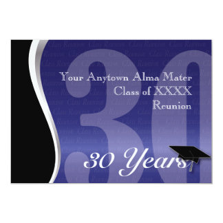 Customizable 30 Year Class Reunion 13 Cm X 18 Cm Invitation Card