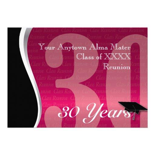 Customizable 30 Year Class Reunion Invites