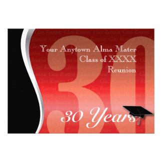 Customizable 30 Year Class Reunion Announcement