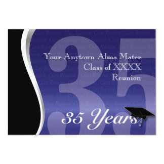 Customizable 35 Year Class Reunion 13 Cm X 18 Cm Invitation Card