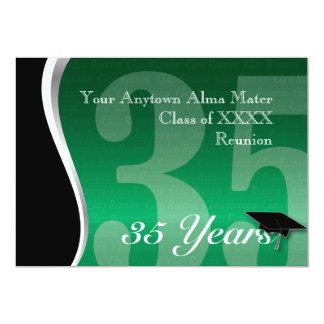 Customizable 35 Year Class Reunion 13 Cm X 18 Cm Invitation Card