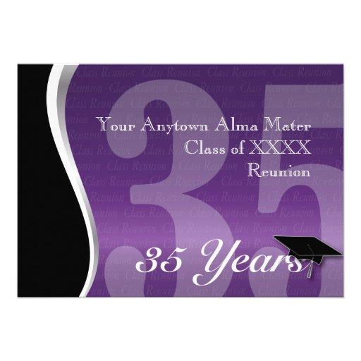 Customizable 35 Year Class Reunion Invitations