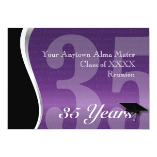 Customizable 35 Year Class Reunion 5x7 Paper Invitation Card