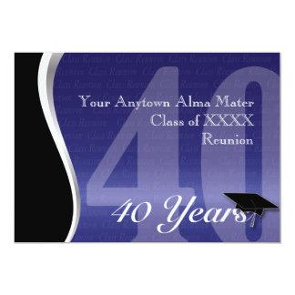 Customizable 40 Year Class Reunion 13 Cm X 18 Cm Invitation Card