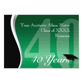 Customizable 40 Year Class Reunion Card