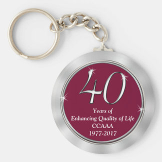 Customizable 40th Anniversary Gift Ideas Your Text Key Ring