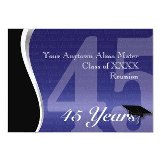 Customizable 45 Year Class Reunion 13 Cm X 18 Cm Invitation Card