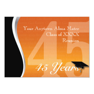 Customizable 45 Year Class Reunion 13 Cm X 18 Cm Invitation Card