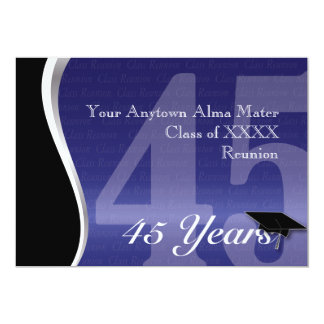 Customizable 45 Year Class Reunion Personalized Announcement