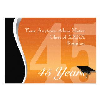 Customizable 45 Year Class Reunion Personalized Invitation