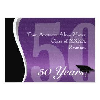 Customizable 50 Year Class Reunion 13 Cm X 18 Cm Invitation Card