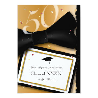 Customizable 50 Year Class Reunion 13 Cm X 18 Cm Invitation Card