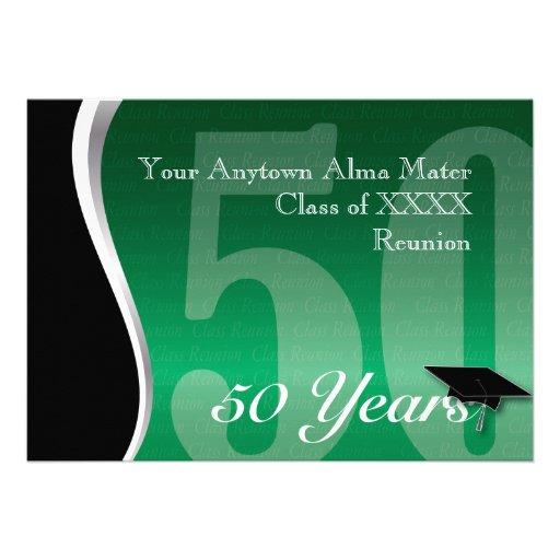 Customizable 50 Year Class Reunion Custom Announcement