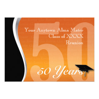 Customizable 50 Year Class Reunion Personalized Invites