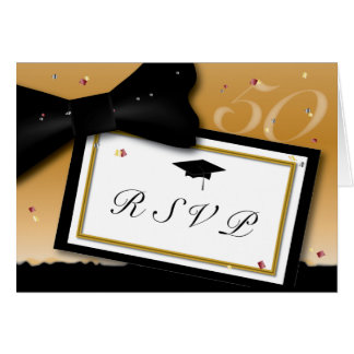 Customizable 50 Year Class Reunion RSVP Stationery Note Card