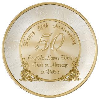 Customizable 50th Wedding Anniversary Gifts Plate
