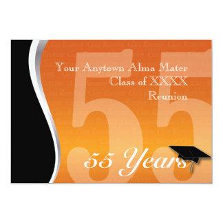 Customizable 55 Year Class Reunion 13 Cm X 18 Cm Invitation Card