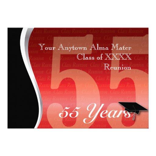 Customizable 55 Year Class Reunion Custom Announcements