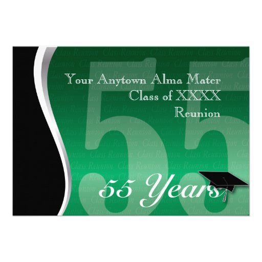 Customizable 55 Year Class Reunion Personalized Announcements