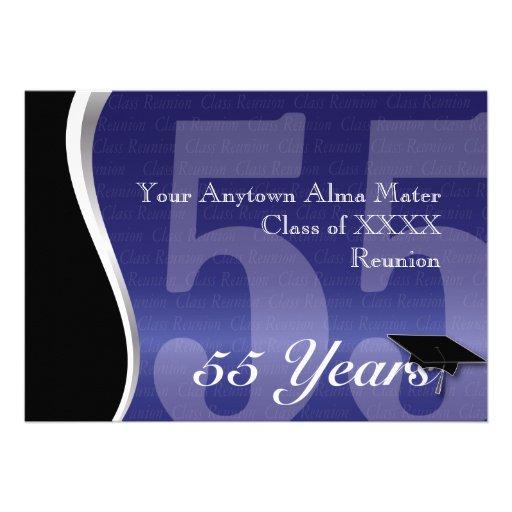Customizable 55 Year Class Reunion Announcements