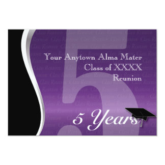 Customizable 5 Year Class Reunion 13 Cm X 18 Cm Invitation Card
