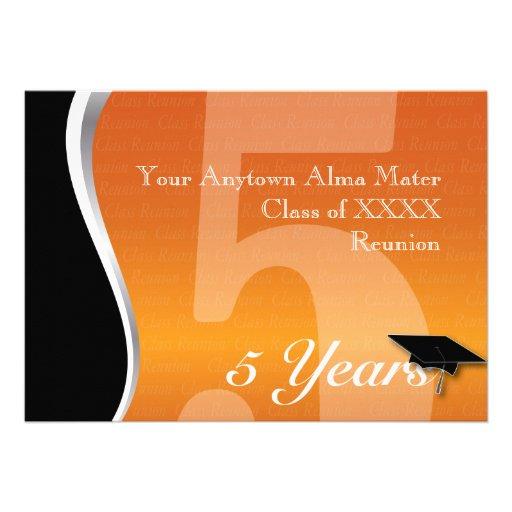 Customizable 5 Year Class Reunion Custom Invites