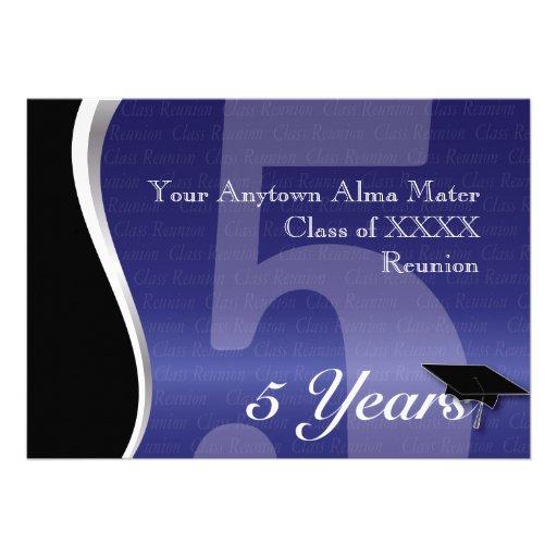 Customizable 5 Year Class Reunion Personalized Invite