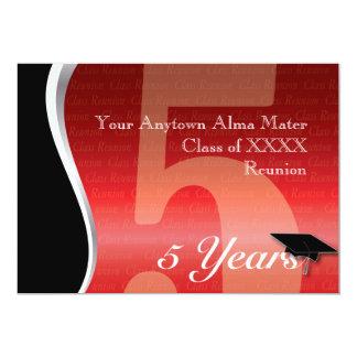 Customizable 5 Year Class Reunion Invitations