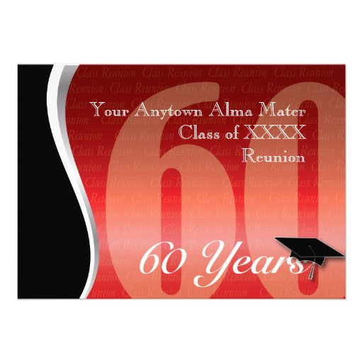 Customizable 60 Year Class Reunion Personalized Invite