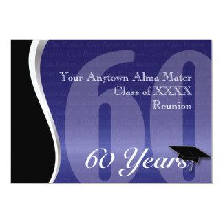 Customizable 60 Year Class Reunion 13 Cm X 18 Cm Invitation Card