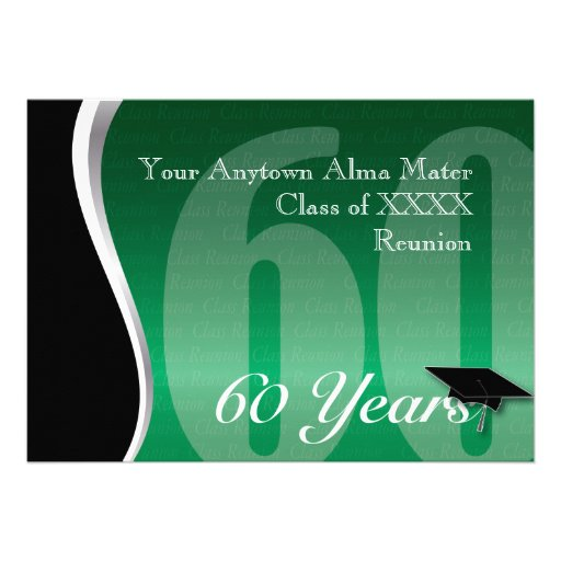 Customizable 60 Year Class Reunion Invitation