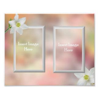 Customizable 8x10 picture frame insert photo art