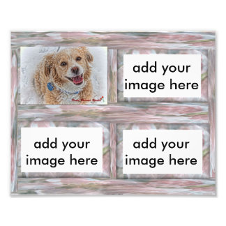 Customizable 8x10 pink rustic picture frame insert photo art