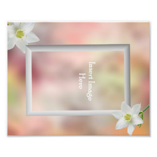 Customizable 8x10 single picture frame insert photo print