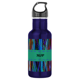 Customizable Abstract Stripes Design 532 Ml Water Bottle