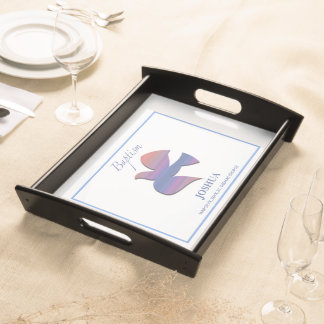 Customizable, Adult Baptism Dove Serving Tray