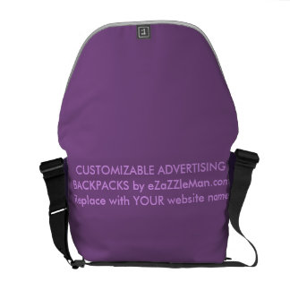 CUSTOMIZABLE ADVERTISING BACKPACKS  eZaZZleMan.com Messenger Bag