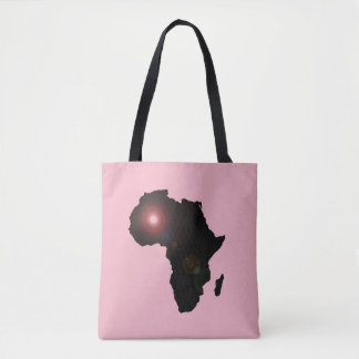 CUSTOMIZABLE AFRICA DUEL COLORLENZ TOTE BAG