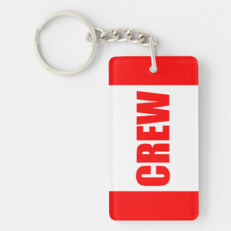 "Customizable Aircraft Pilot ""Crew"" Keychain"