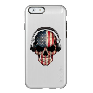 Customizable American Dj Skull with Headphones Incipio Feather® Shine iPhone 6 Case