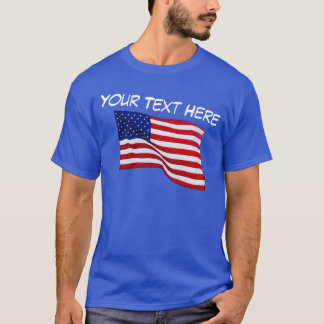 Customizable American Flag Shirt for Men, S to 6XL