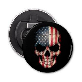 Customizable American Flag Skull Bottle Opener