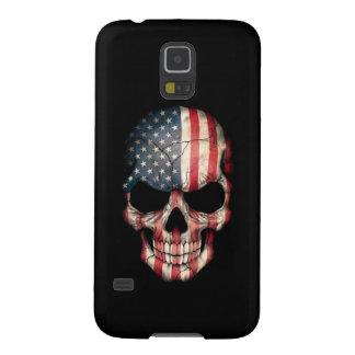Customizable American Flag Skull Galaxy S5 Case