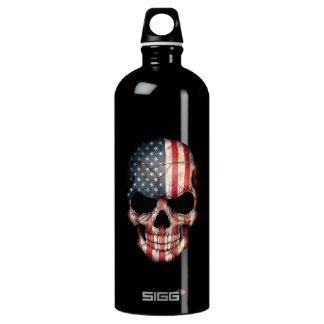 Customizable American Flag Skull SIGG Traveller 1.0L Water Bottle