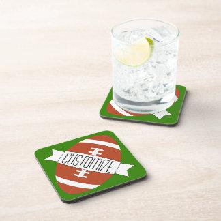 Customizable American Football Team Name Coasters