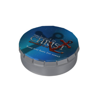 Customizable Anchored in Christ Jelly Belly Tin