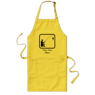Customizable Angler Logo Long Apron