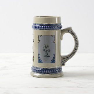 Customizable Anniversary blue Beer Stein
