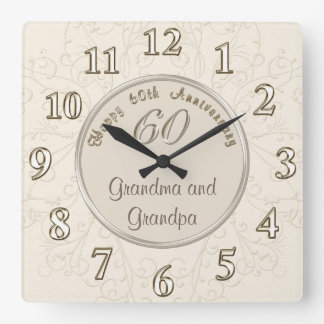 Customizable Anniversary Clock for Grandparents