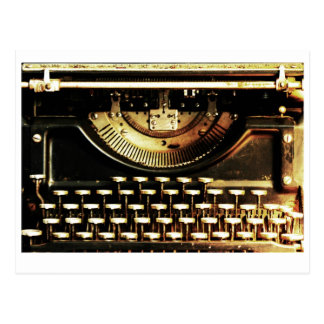 Customizable antique typewriter postcard